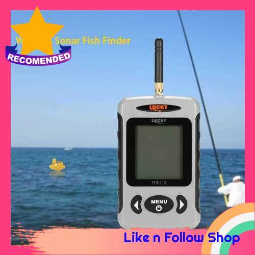 Portable Professional Sounder Wireless Sonar Fish Finder Fishing Probe Detector Fishfinder with Dot Matrix