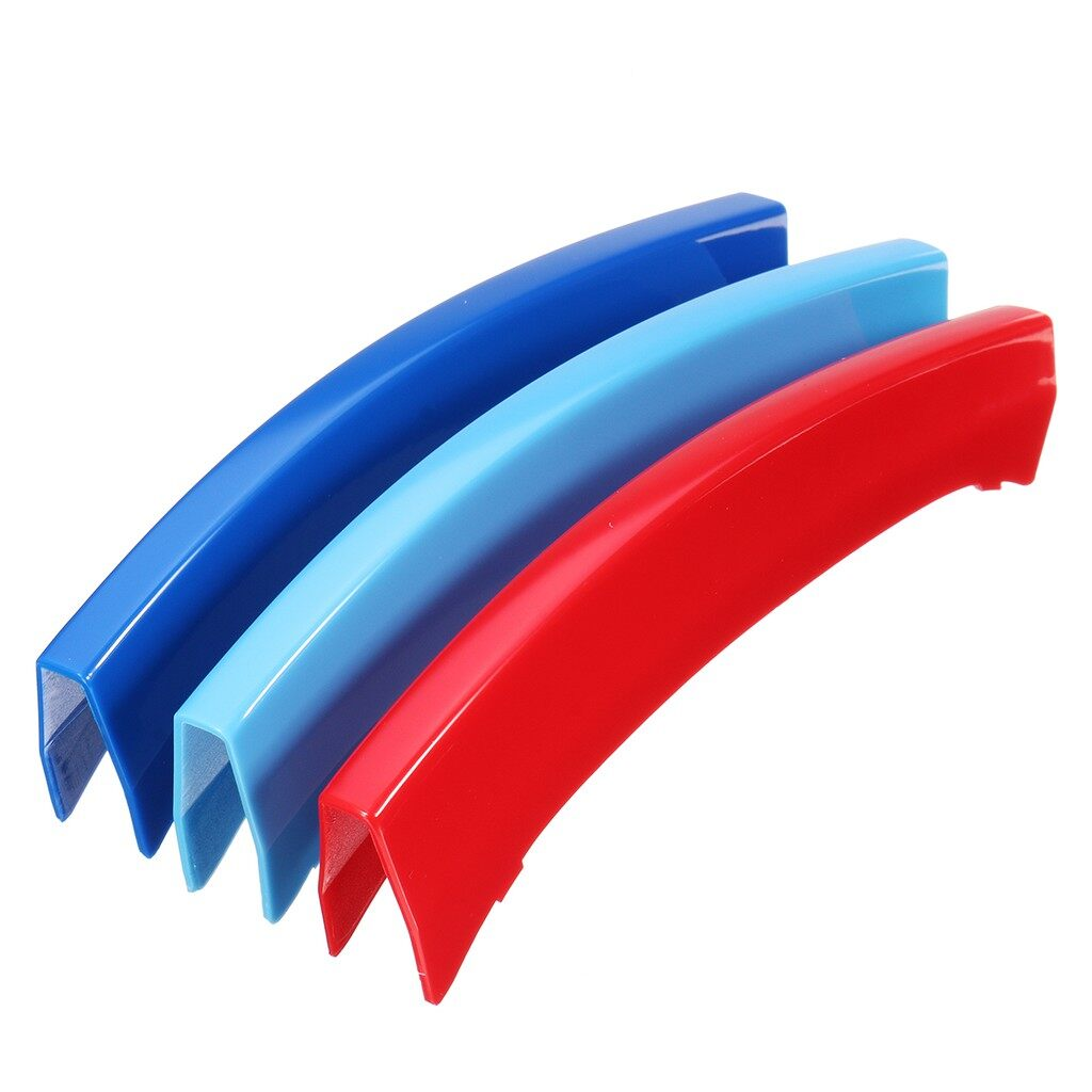 Engine Parts - M-Sport Tech Kidney Grille 3 Colour Cover Clips Stripes For BMW X3 F25 14-16 - Car Replacement