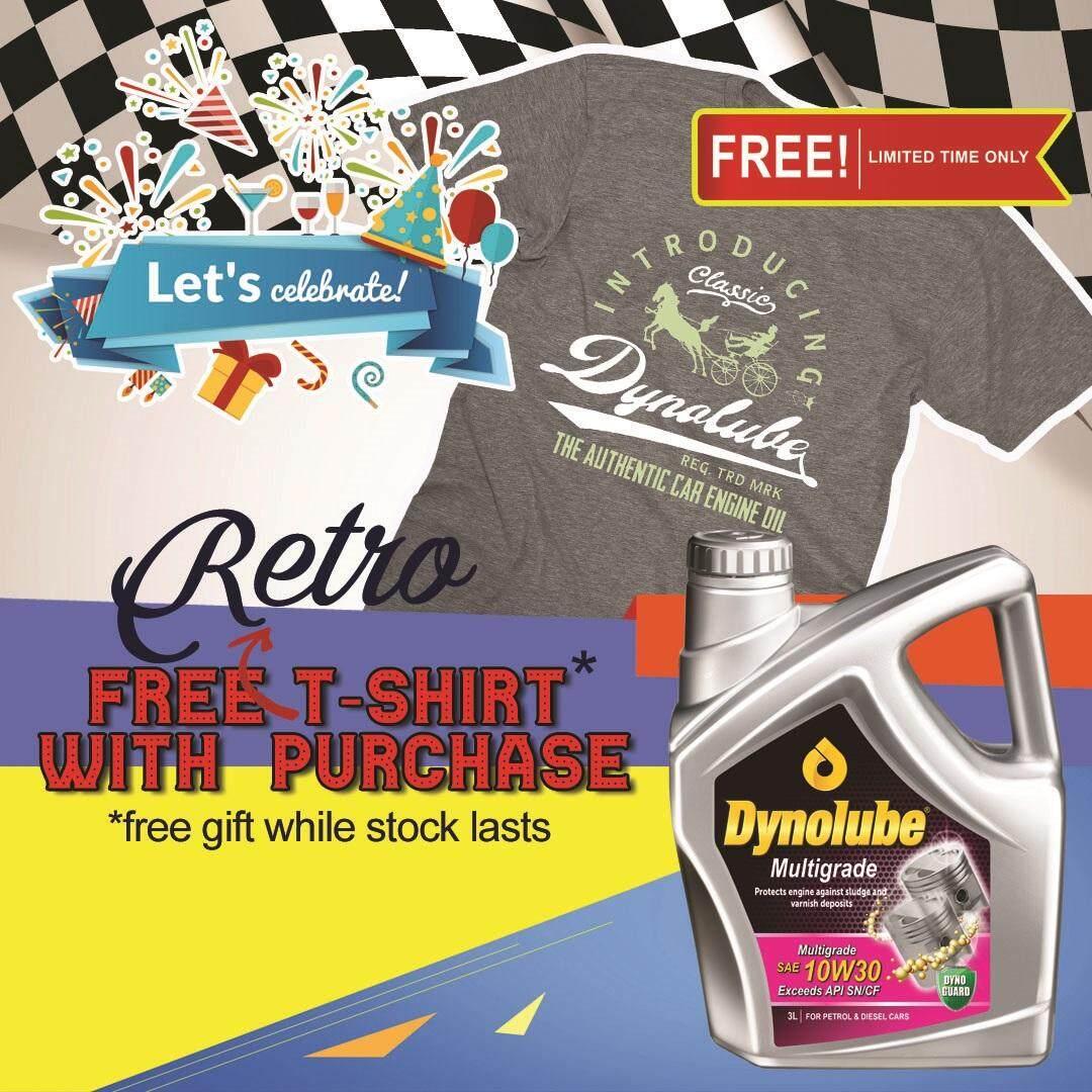 Dynolube 10W30 SN/CF Multigrade 3Liter Engine Oil FREE 1 X T-Shirt (F)