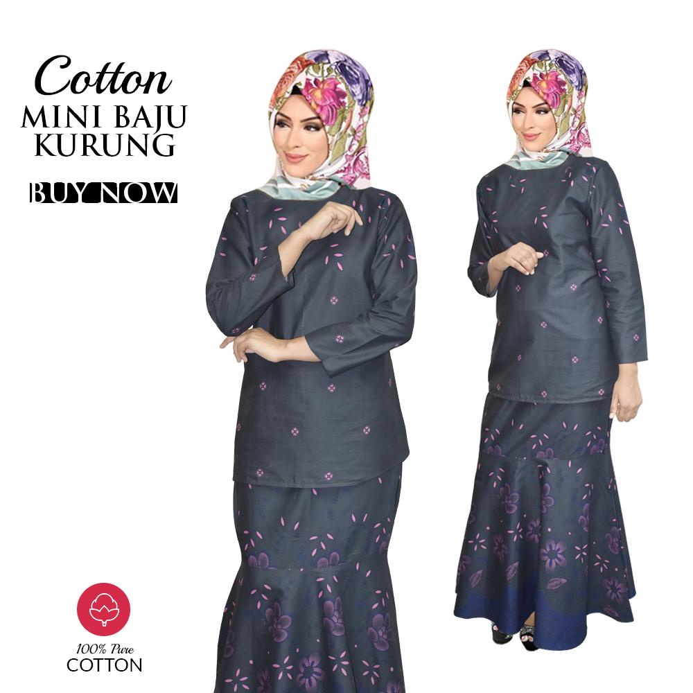 Price List KM Mini Baju Kurung Modern with Beautiful Pattern 100% Cotton (Ready Stock) This Month