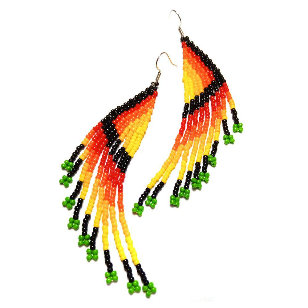 Assorted 3D Long Seed Beads Earring