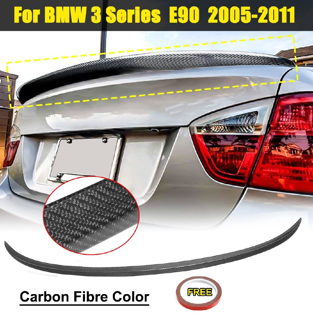 Car Lights - For BMW E90 3 Series Saloon Rear Boot Lip Spoiler Wing Sport Lid M3 Carbon fibre - Replacement Parts