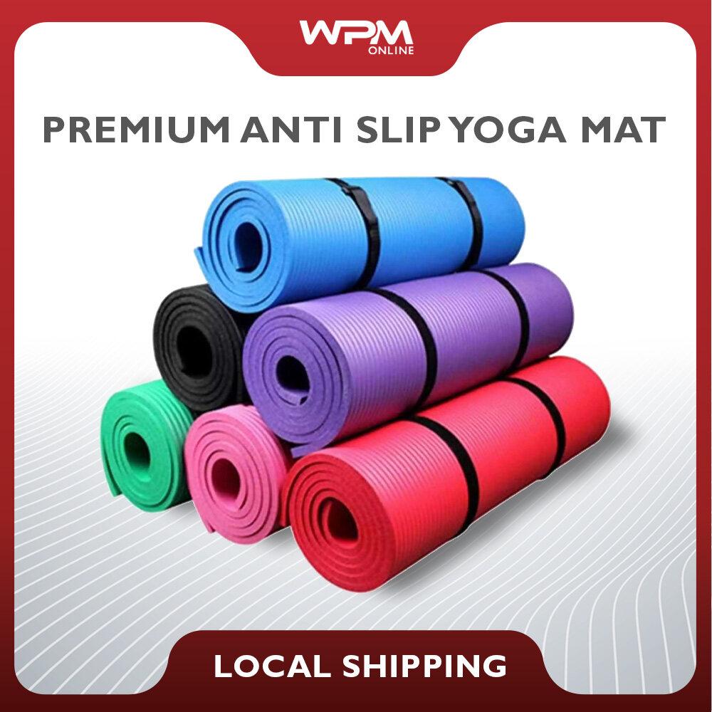 【Premium】Yoga Mat Anti-Slip 183CM x 61CM x 6MM Fitness Plaites Yoga Mat Dual Layer Dual Colour WaterProof