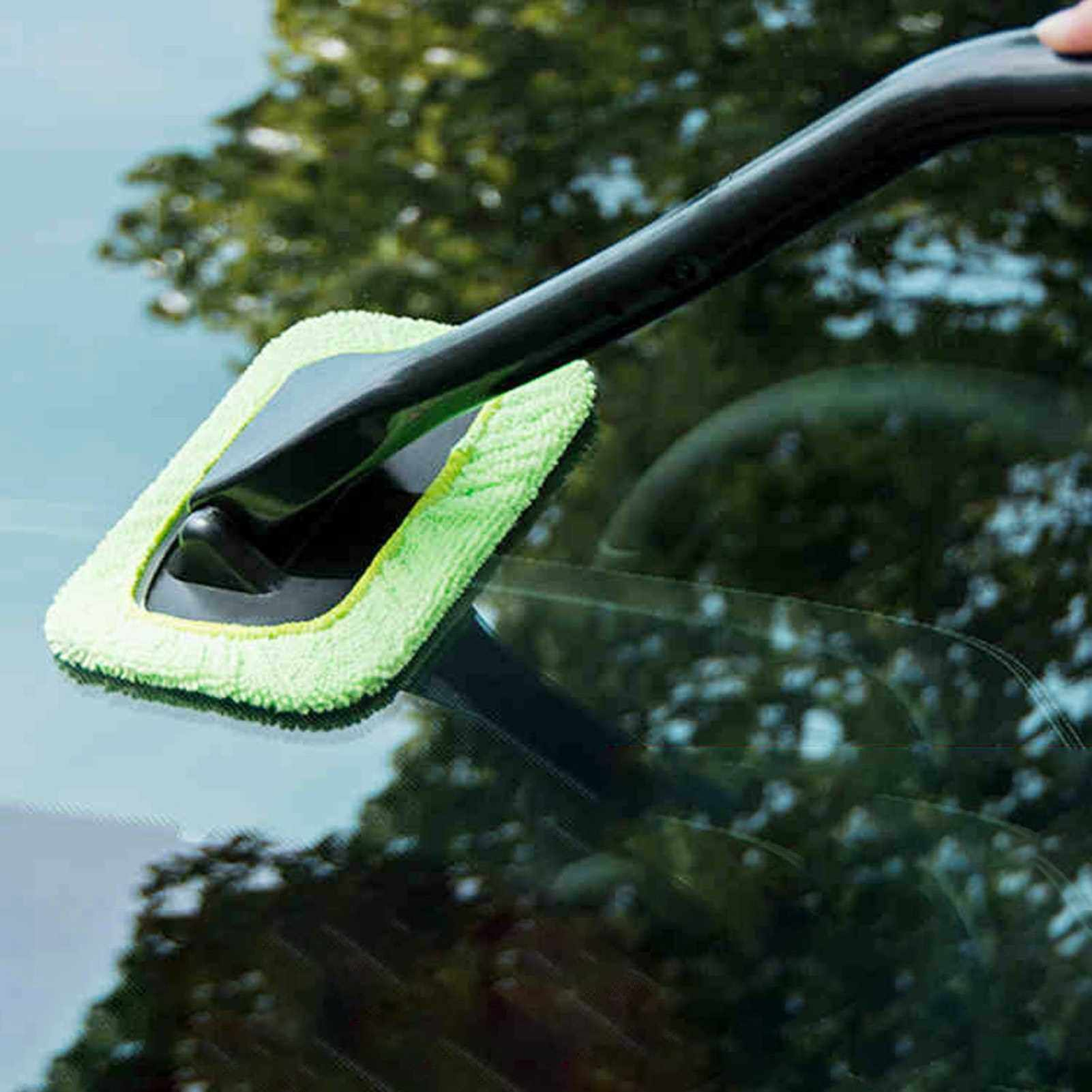 New Microfiber Auto Window Cleaner Windshield Fast Easy Shine Brush Handy Washable Cleaning Tool (Db)