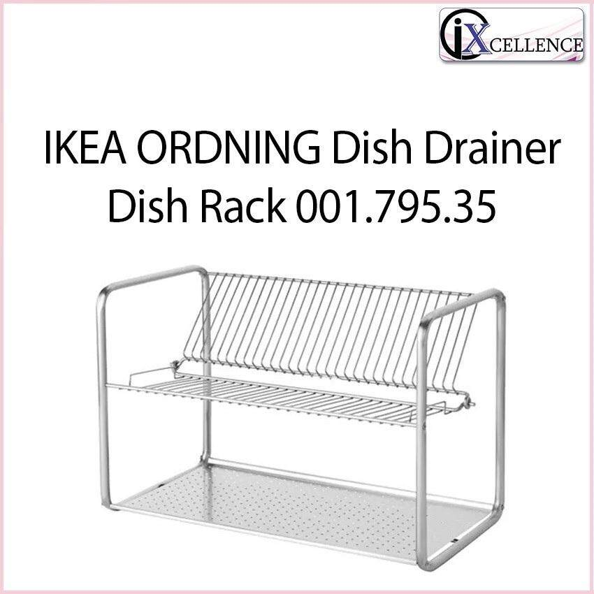 [IX] ORDNING Dish drainer, Dish Rack 001.795.35 (Stainless Steel)
