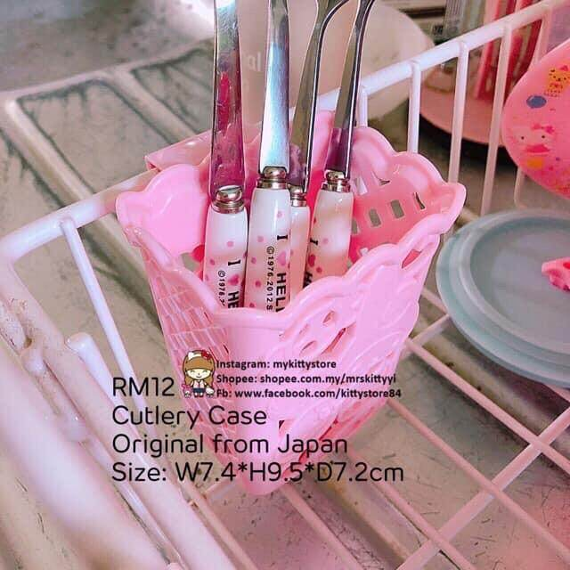 Hello Kitty My Melody Kitchen Pocket Cutlery  Case