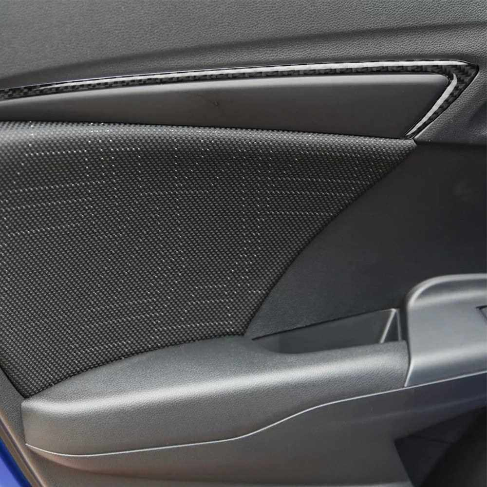 Best Selling Car Inner Doorframe Stickers Vehicle Armrest Trim Fit for Honda Fit/Jazz 2014-2018 Premium Carbon Fiber Material (Standard)