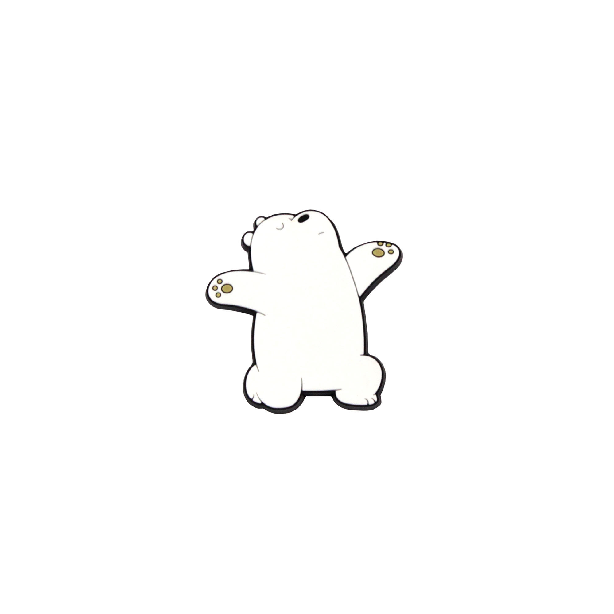 We Bare Bears Ice Bear Pvc Magnetv - White Colour