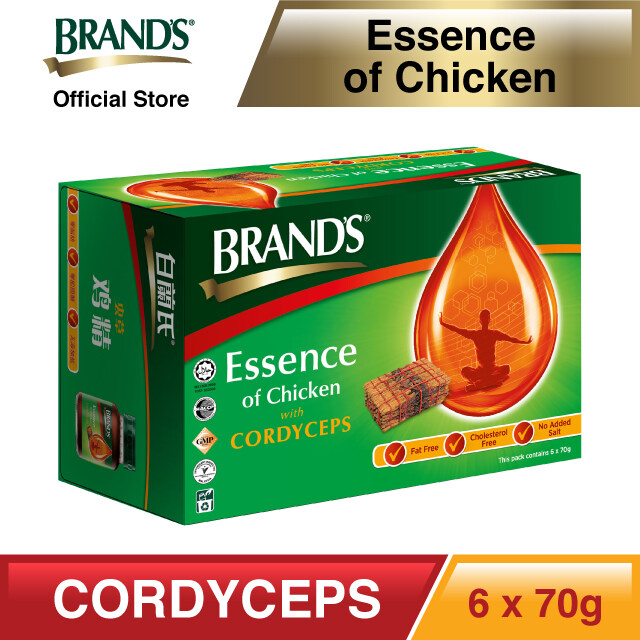 BRAND'S® Essence of Chicken with Cordyceps Single Pack (6's) - 6 bottles x 70gm