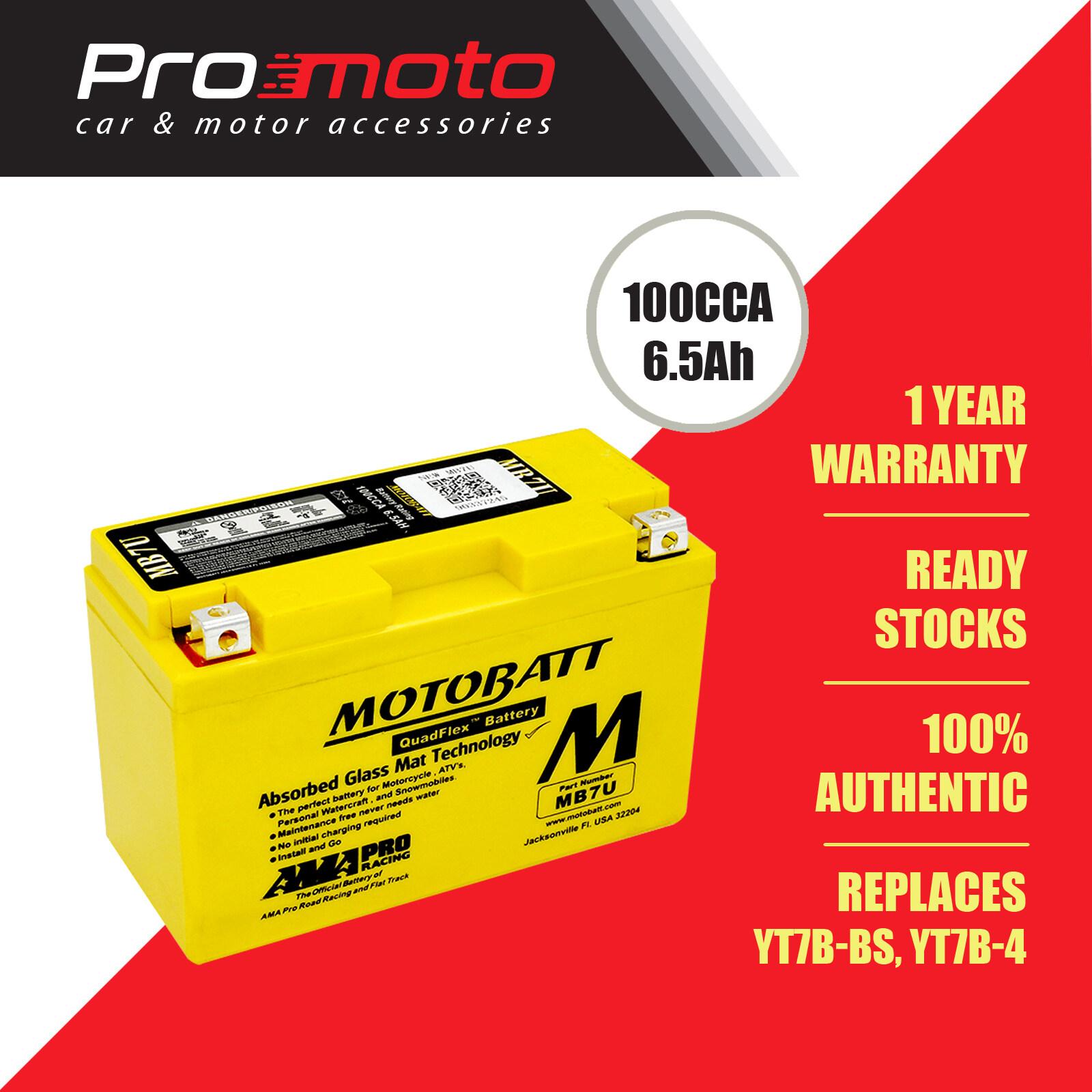 Motobatt Quadflex Battery MB7U (FOR KAWASAKI, YAMAHA & etc) (Replaces YT7B-BS, YT7B-4)