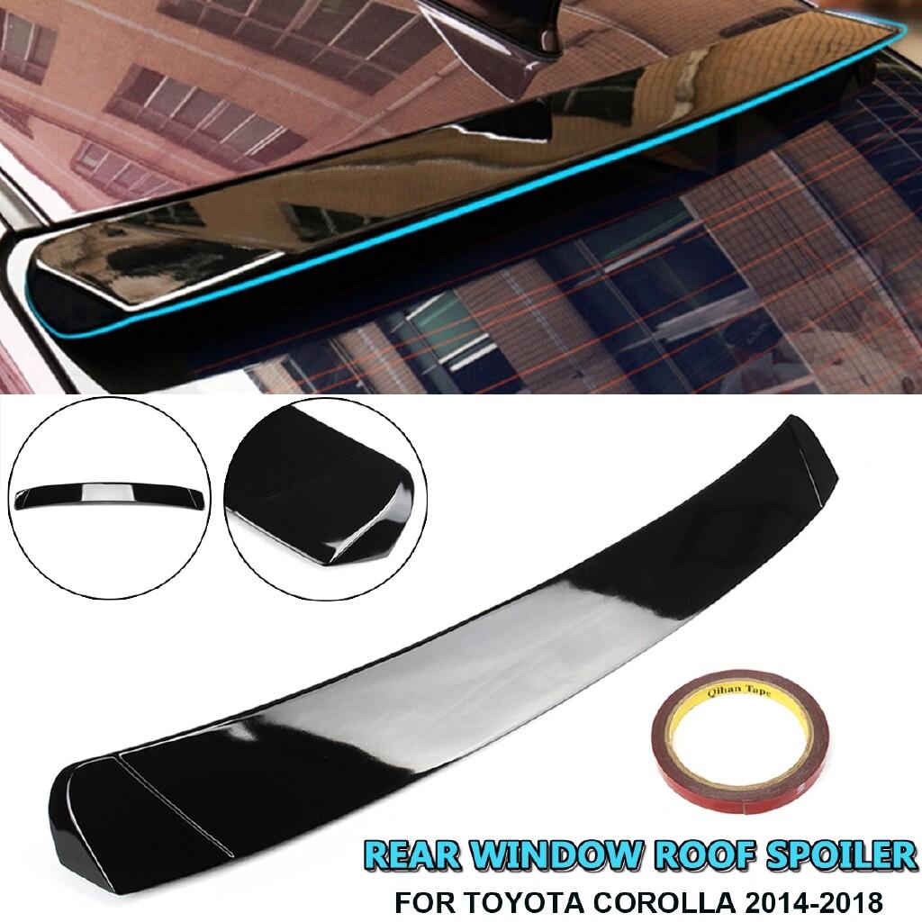 Car Stickers - Rear Window Roof Spoiler Sun Rain Shade Vent Visor Lip For Toyota Corolla 14-18 - Accessories