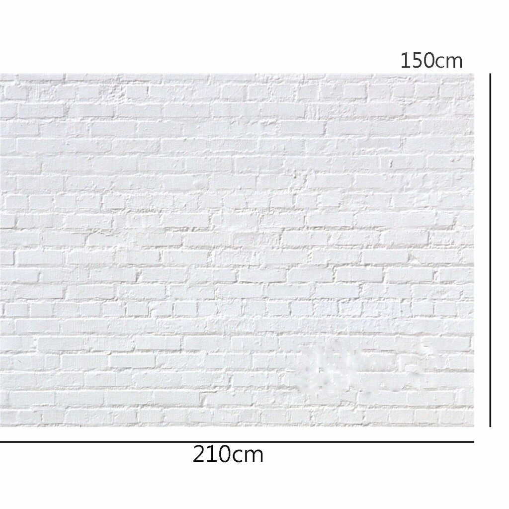 Lighting and Studio Equipment - 7x5FT Vinyl Pure White Brick Wall Studio Photography Backdrop Props Backgrou - Camera Accessories