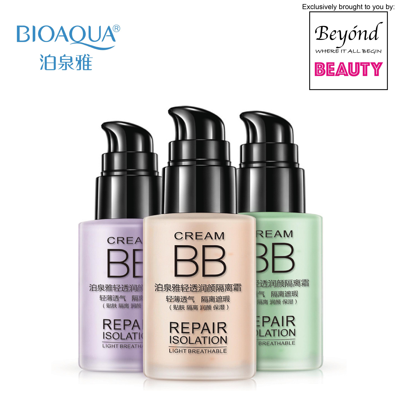 BIOAQUA Repair Isolation Makeup BB Cream - Natural / Green / Purple