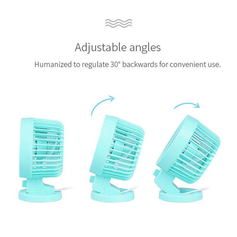 Double Side Fan Blades PORTABLE Fan MINI Fan Table Fan USB Fan Kipas Angin - WHITE / BLUE / BLACK / PINK