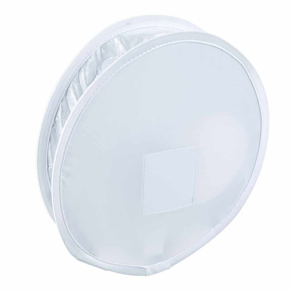 Multifunctional 12in Mini Portable Round On-camera Flash Diffuser Easy-fold Design Softbox for Flash Speedlite (Standard)