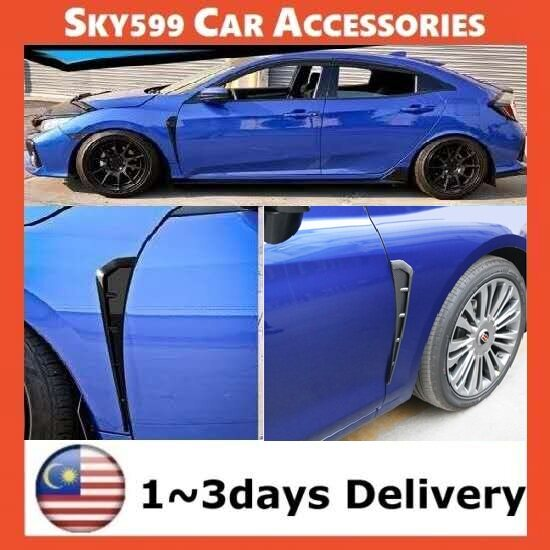 Universal Carbon Style ABS Side Fender Vent Air Wing Cover Trim 2pcs