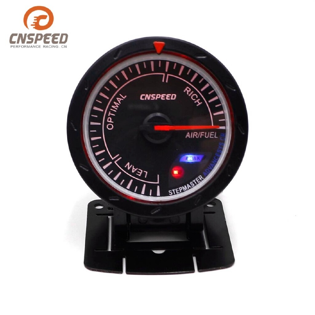 Moto Accessories - 2.5'' 60mm Stepper Motor White + Red LED O2 Air Fuel Ratio Gauge AFR Meter Auto - Motorcycles, Parts
