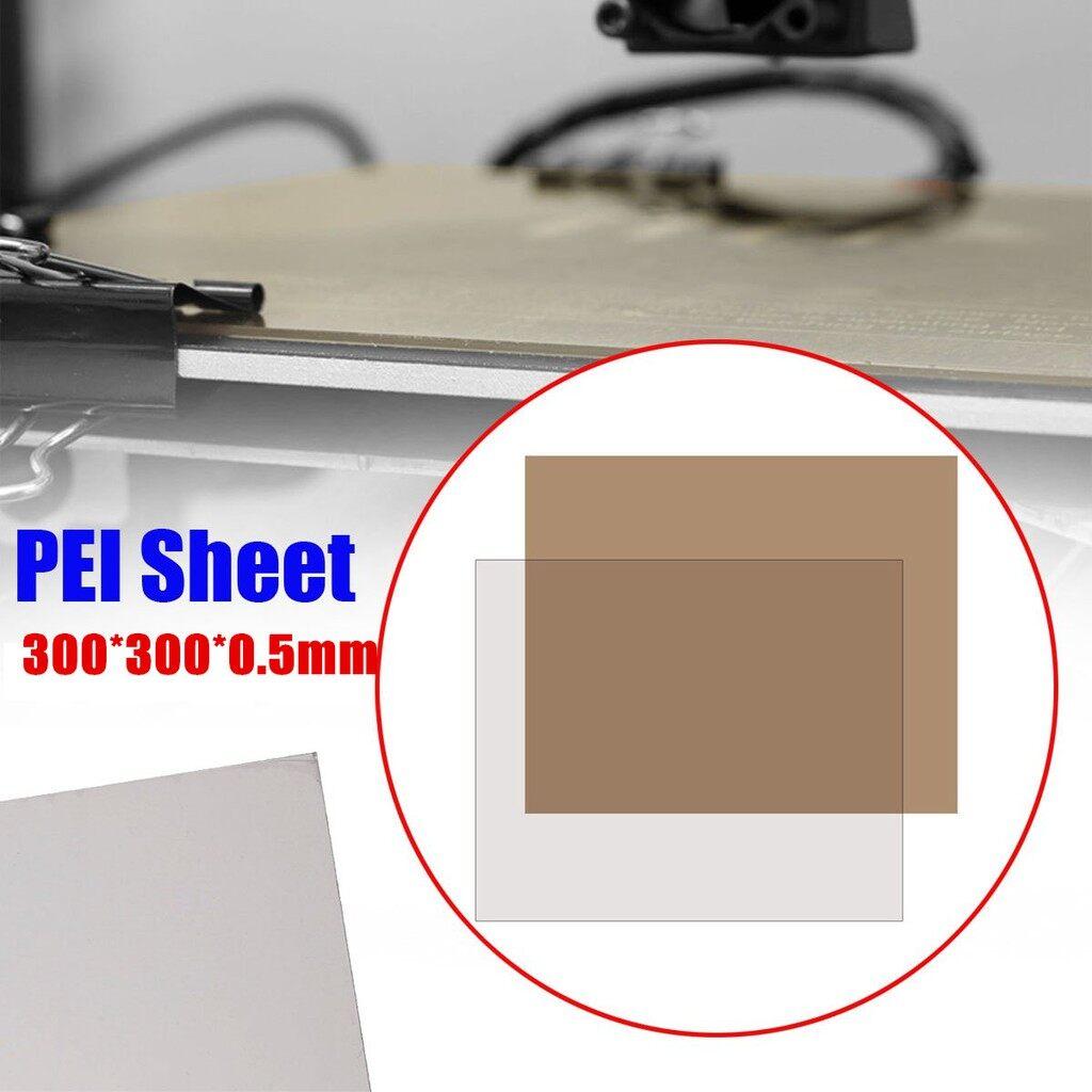 Car Accessories - 300x300x0.5MM PEI Sheet Adhesive For 3D Printer Build Surface Cr-10 Tevo Tornado - Automotive