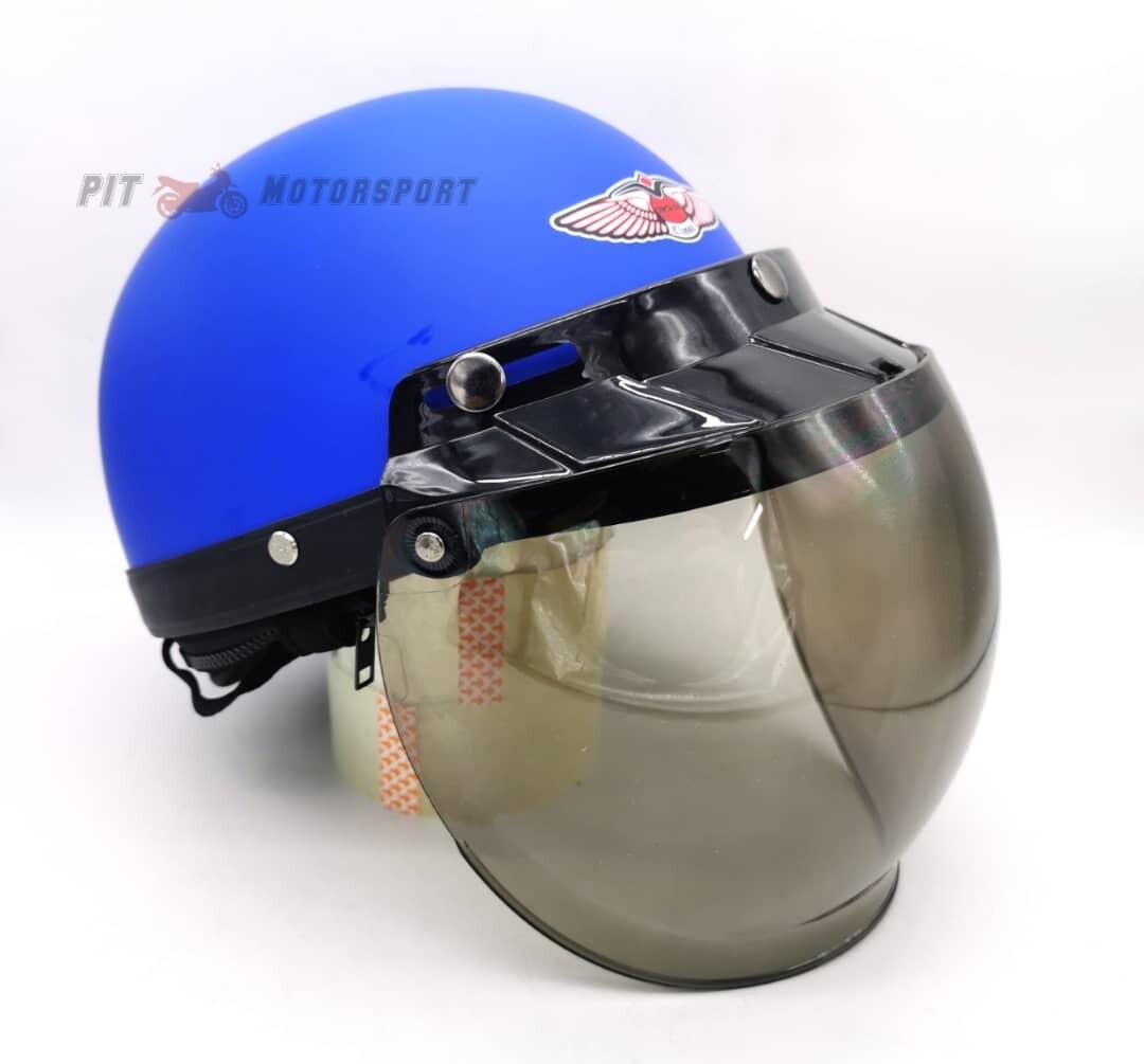 MHR Original Matt Blue III Half Cut Helmet Steng Separuh MT15 Y16ZR Y15ZR LC135 EX5 RS150 VF3i RFS150 Motor Accessories