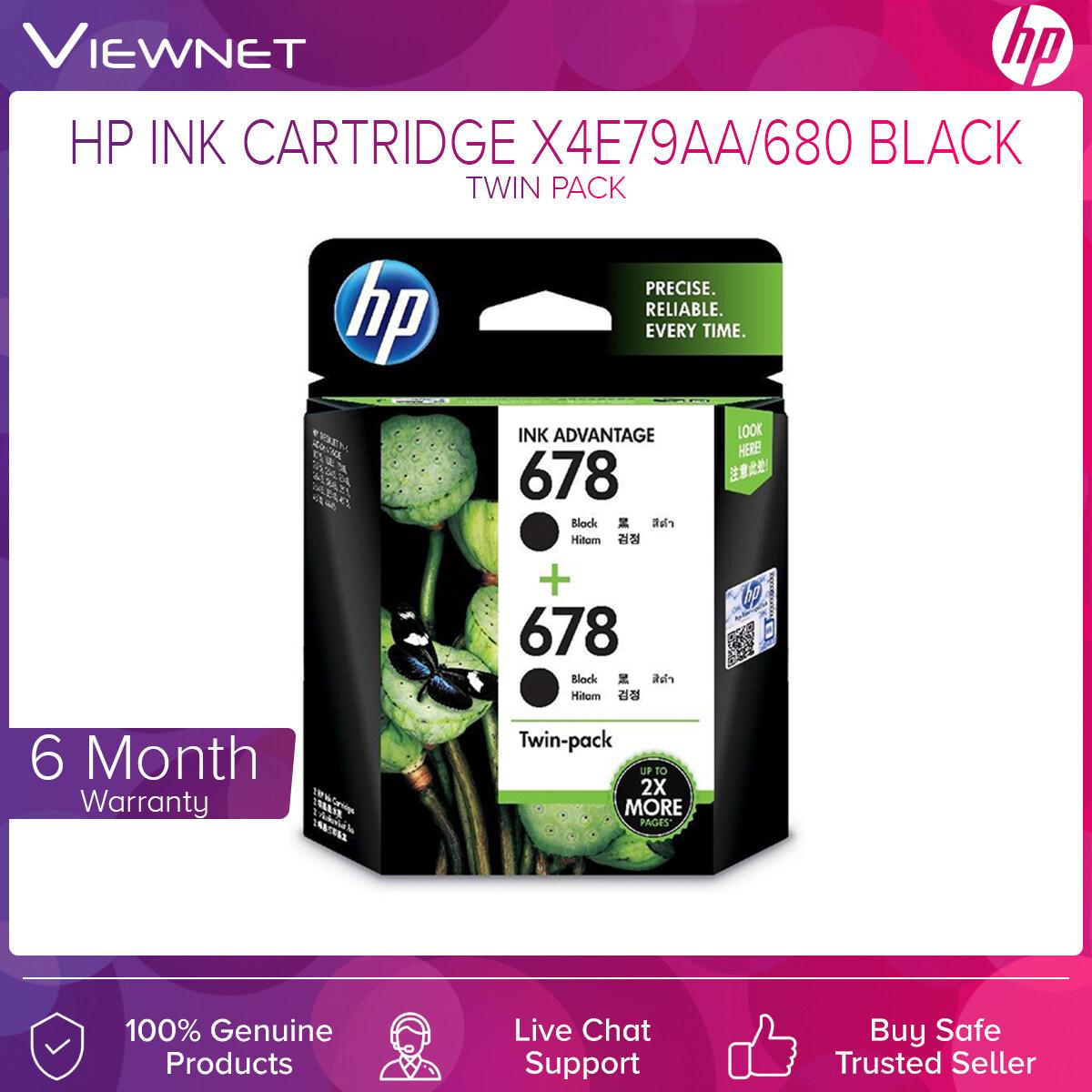 HP Cartridge Ink X4E78AA/680 & X4E79AA/680 Combo/Twin Pack (Black&ampTri/Black)