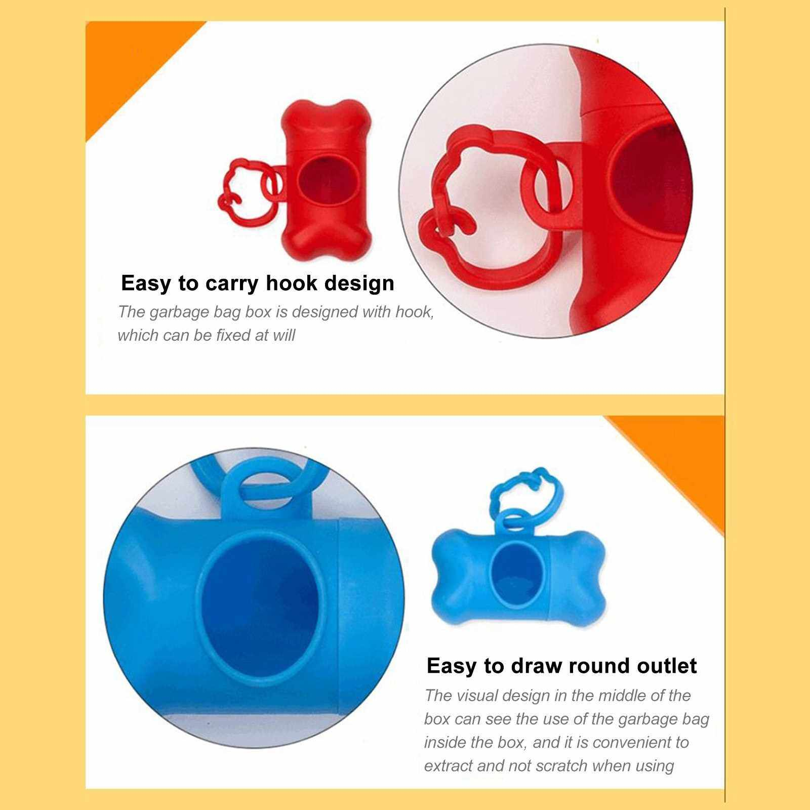 Pet Poop Bag Dispenser Box - Includes 1 Roll (15 Dog Poop Bags) - Scented, Leak-Proof, Earth-Friendly Poop Bags for Dogs (Black)