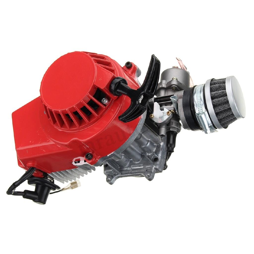 Moto Accessories - 49cc 2 Stroke Engine Motor Air Filter Carburetor Pocket Bike MINI Dirt ATV Quad - RED / BLUE / GOLD / BLACK