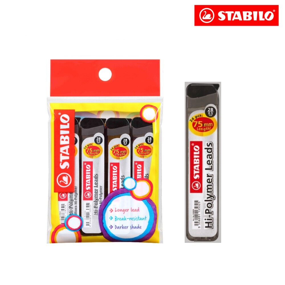 Refill Lead - STABILO Mechanical Pencil Refill Lead (0.5mm) Pack of 4