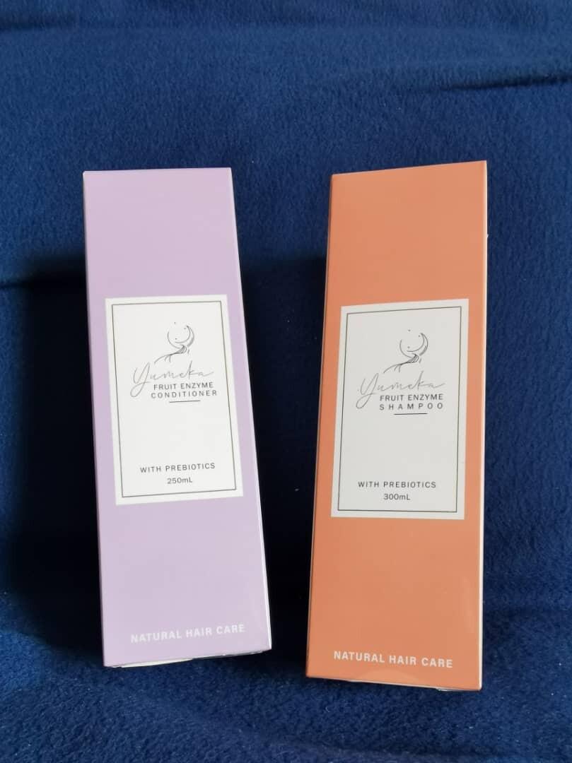 【PROMO】YUMEKA 水果酵素头皮洗发水+护发素+檀香木梳子