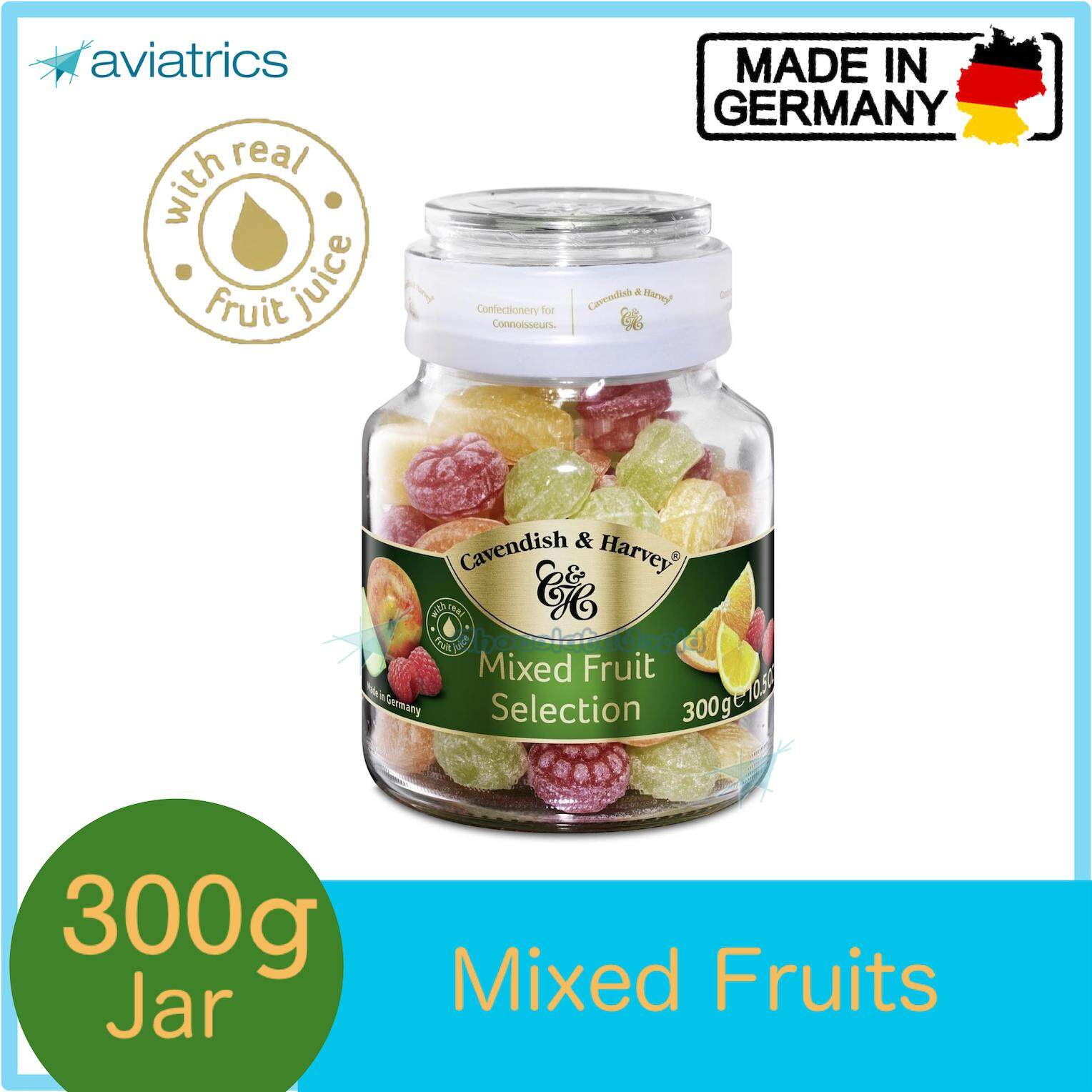 Cavendish Harvey Mixed Fruit Selection Fruity Shape Drops 300g (Made in Germany)