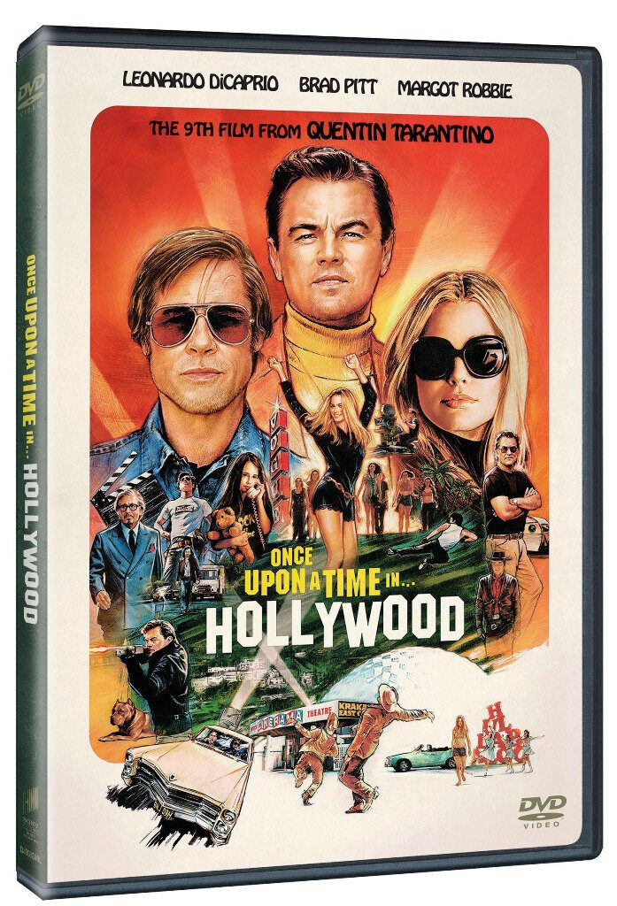 English Movie Once Upon a Time in Hollywood DVD Leonardo DiCaprio / Brad Pitt
