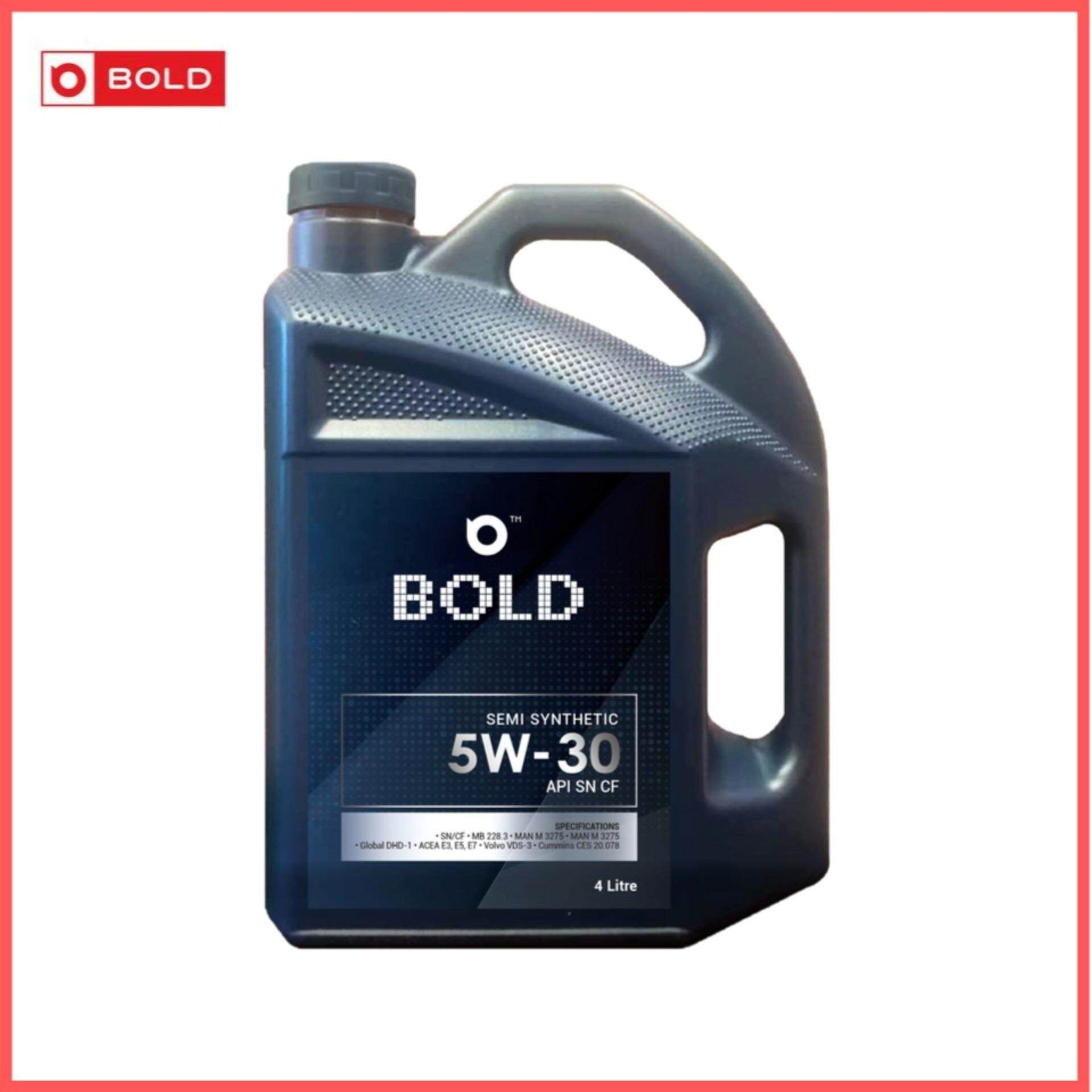 Bold Semi Synthetic SN 5w30 Engine Oil Lubricant 5w-30 4L / 4Litre