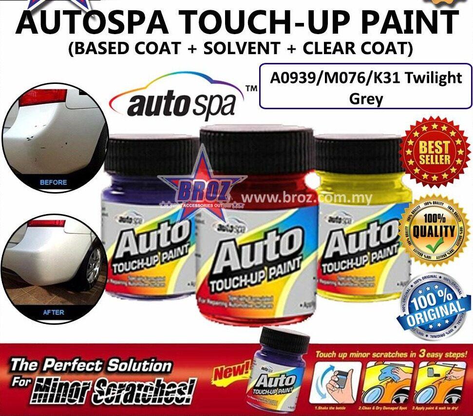 AUTOSPA Touch Up Paint Latio 3pcs/Set (Base Coat + Solvent + Clear Coat)