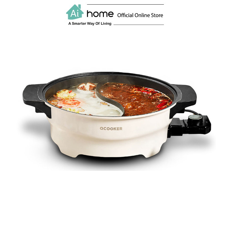 OCOOKER 4L 2 In 1 Multi-functional Steamboat Hot Pot with 1 Year Malaysia Warranty [ Ai Home ]