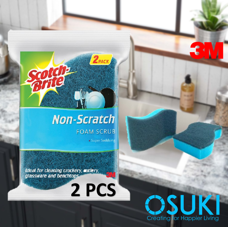 3M Scotch Brite Non-scratch Scouring Sponge-Blue (2pcs/pack)