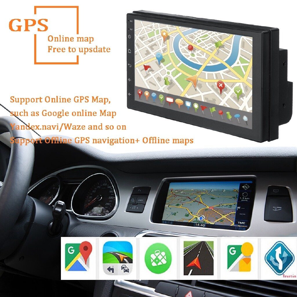 Car Multimedia Players - 7'' 2DIN Android 8.1 Car Stereo Quad Core WIFI BLUETOOTH Radio Video Player - Electronics