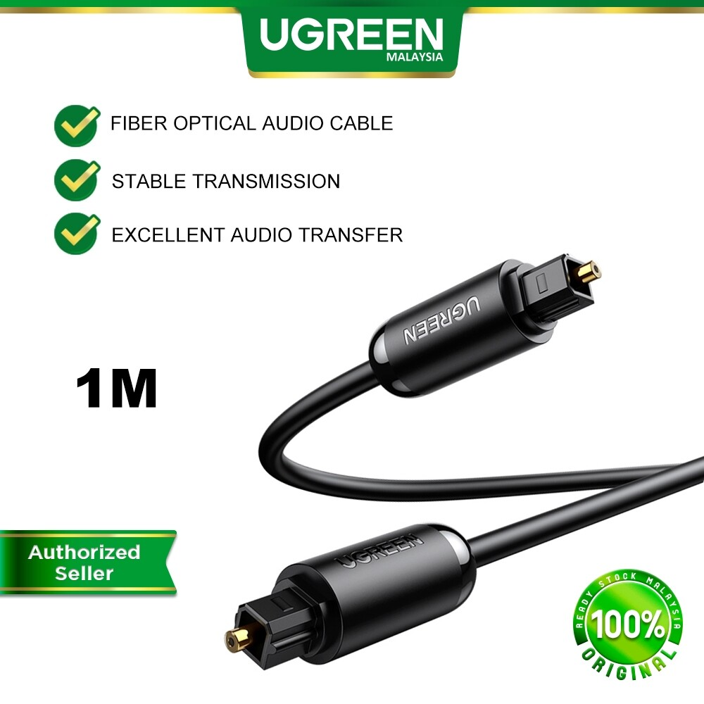 UGREEN Digital Fiber Optical Audio Cable Toslink SPDIF Coaxial Cable Premium Digital Optical Play Station PS4 PS3 XBOX 360 Tv Box CD DVD Player TV Amplifier Speaker Soundbar 1 Meter