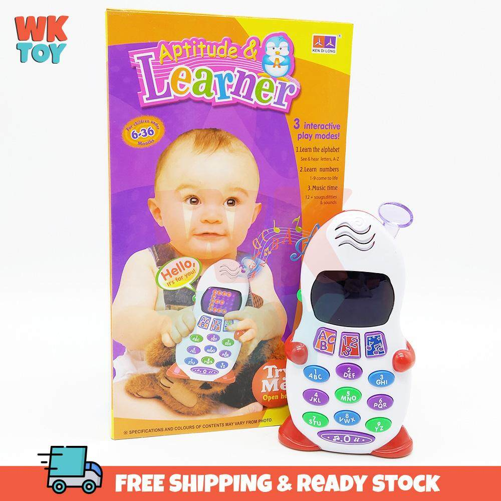 WKTOY Baby Toddler ABC Number Music Learning Phone Toys Toy Gifts