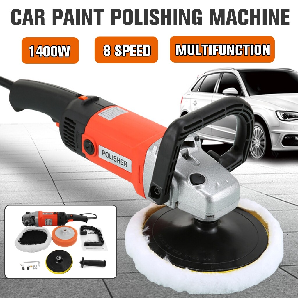 Automotive Tools & Equipment - 1400w Car Polisher Sander Buffer Polishing Machine Waxer 8 Variable Speeds Tool - Car Replacement Parts