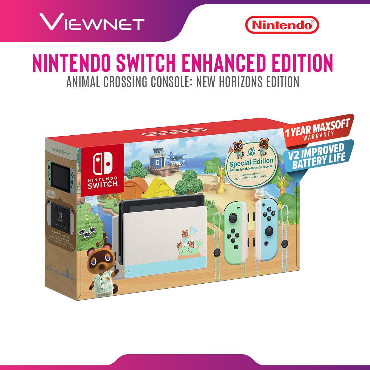 Nintendo Switch Animal Crossing New Horizon Enhanced Battery Special Edition (Maxsoft Warranty)