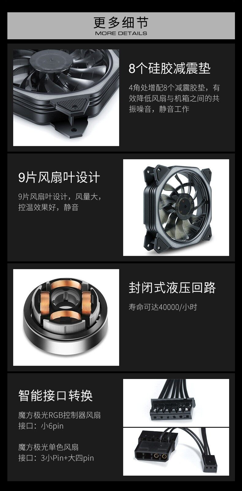 Best Selling [ Local Ready Stock ] RGB LED Cooling Fan 120mm with 12 Color for Desktop PC Cooling System & Custom