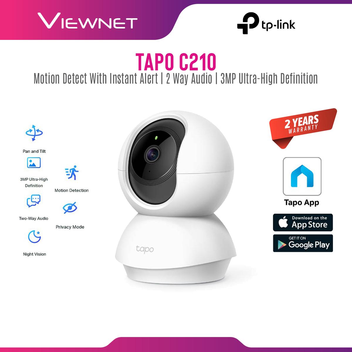 [ONLINE EXCLUSIVE 💥] TP-Link TAPO C210 3MP SUPER HD / TAPO C200 / TC70 1080P Full HD - Pan Tilt Wireless WiFi Home Security Surveillance IP Camera (CCTV)