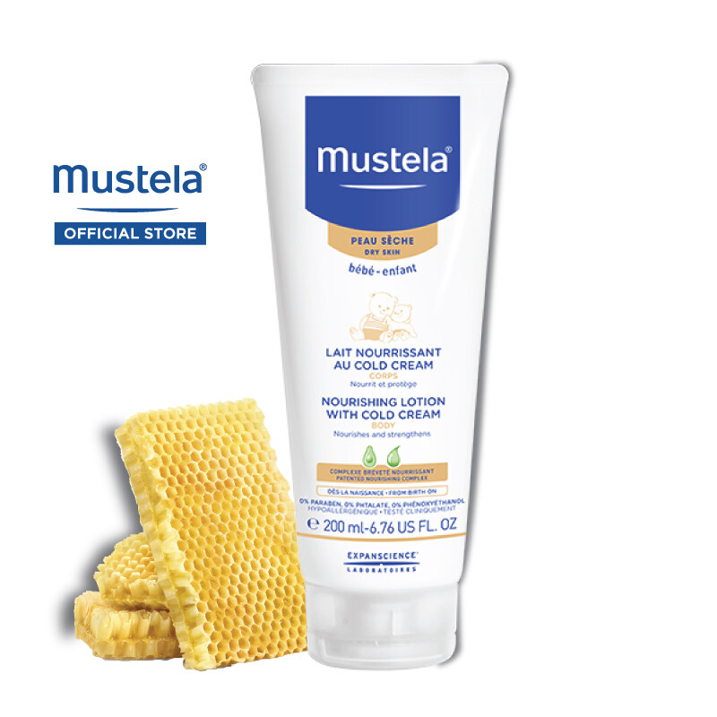 MUSTELA Nourishing Lotion with Cold Cream for Dry Skin (200ml)