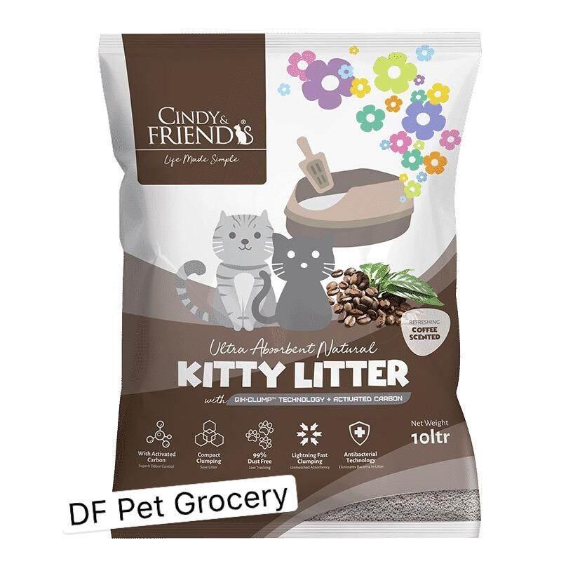 Cindy & Friends Kitty Litter - Coffee 10Ltr - Clumping Cat Litter