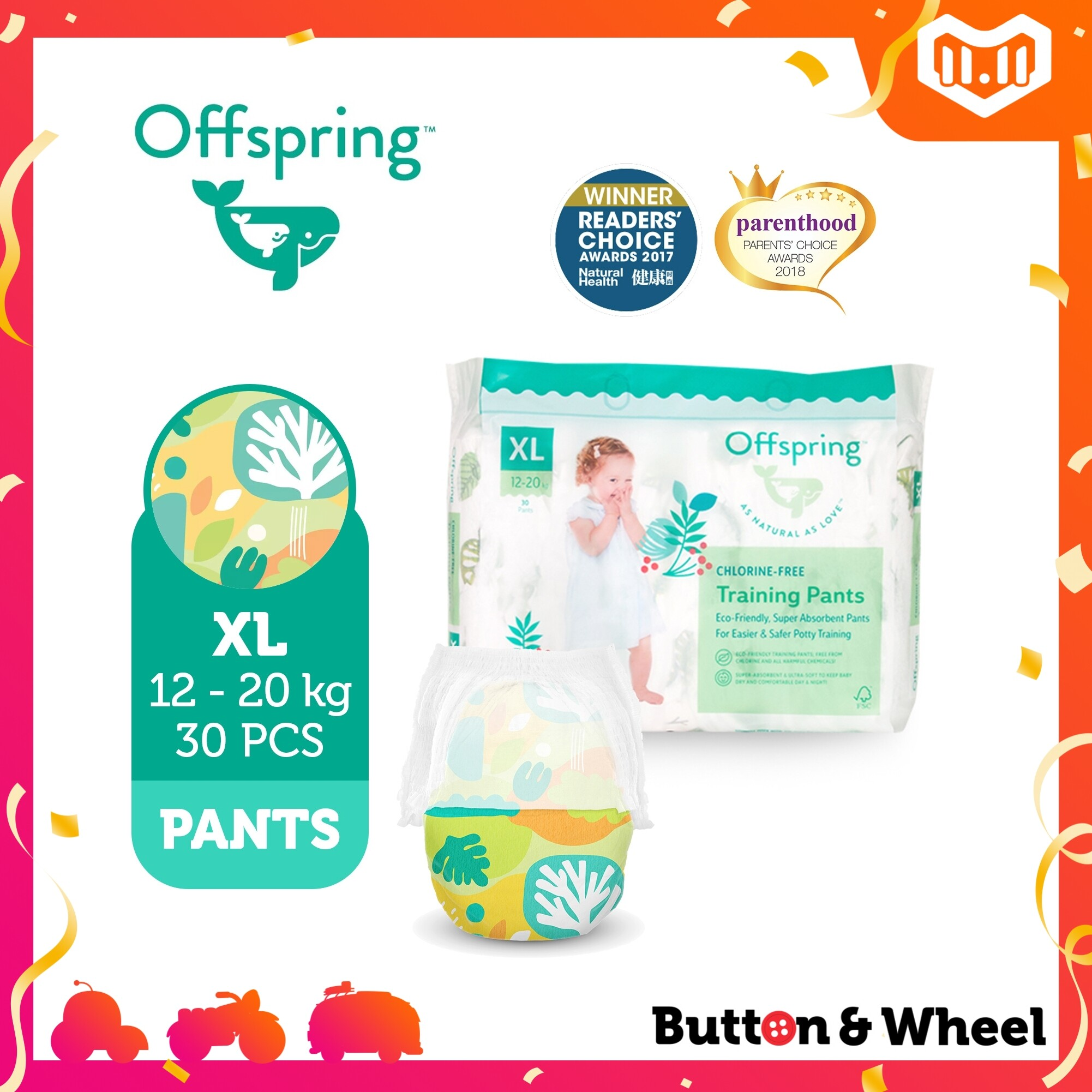 Offspring Fashion Pants XL Size (30 pcs):OI-FP-XL-Animalaysia