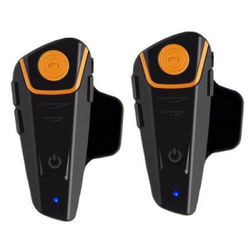 AutoLover BT - S2 1000m Bluetooth Helmet Headsets Motorcycle Intercoms Auto Answer FM Radio Interphones 2pcs (BLACK)