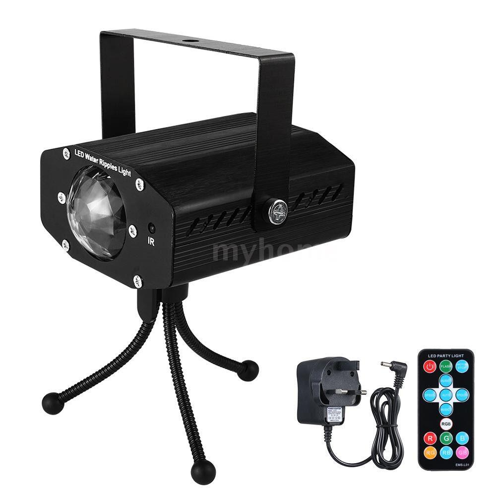Lighting - AC110-240V 5W 3 LED RGB MINI LED Water Wave Ripple Effect Stage Light Lighting Fixture Lamp - Home & Living