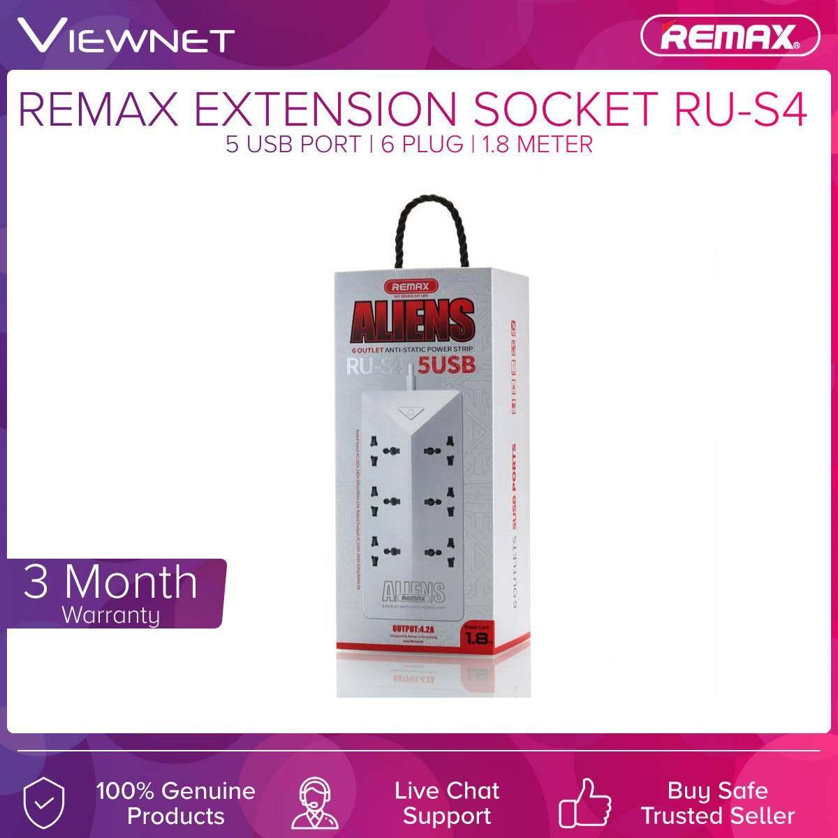 Extension Socket Remax (RU-S4) WHT