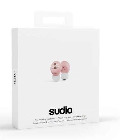 100% Original SUDIO TOLV In-Ear Wireless Earbuds - BLUE, WHITE, GREEN, BLACK, PINK