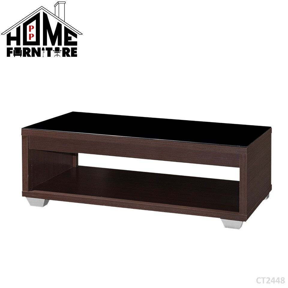 PP HOME CT12448 Rectangle Coffee table/ Console table/ Display table/ Deco table/ Living room table/ Side table/ Living room table/  Dua lapisan meja kopi/ Meja makan/ Meja konsol/ Meja hiasan/ Meja kopi 长方形咖啡桌/餐桌 WITH glass gelas 玻璃CT2448