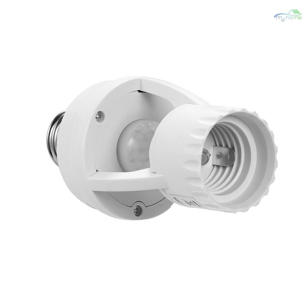 DIY Tools - AC110-220V 360 Degrees PIR Induction Motion Sensor IR Human Infrared Detector E27 Plug Socket - WHITE